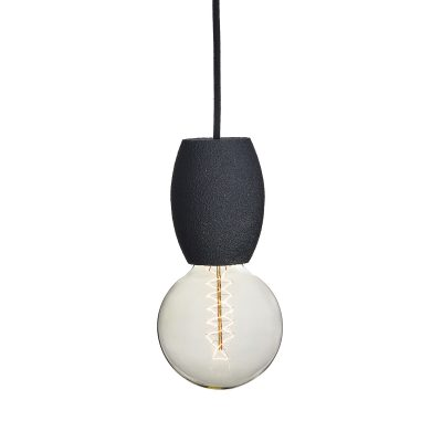 Handmade svietidlo CARBON PILL vyrobené z recyklovaného papiera | Amarcords