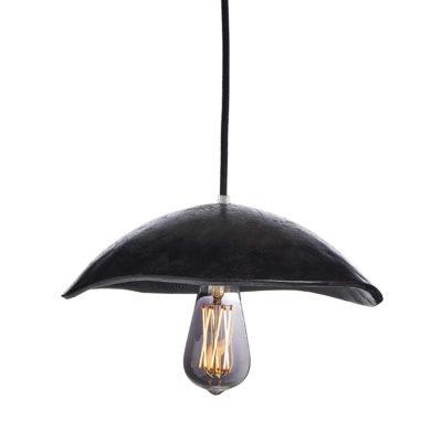 Jedinečné svietidlo BLACK SHELL vyrobené z recyklovaného papiera