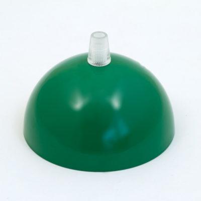 Kovová stropná rozeta s priemerom 10 cm, zelená farba.Kovová stropná rozeta s priemerom 10 cm, zelená farba.