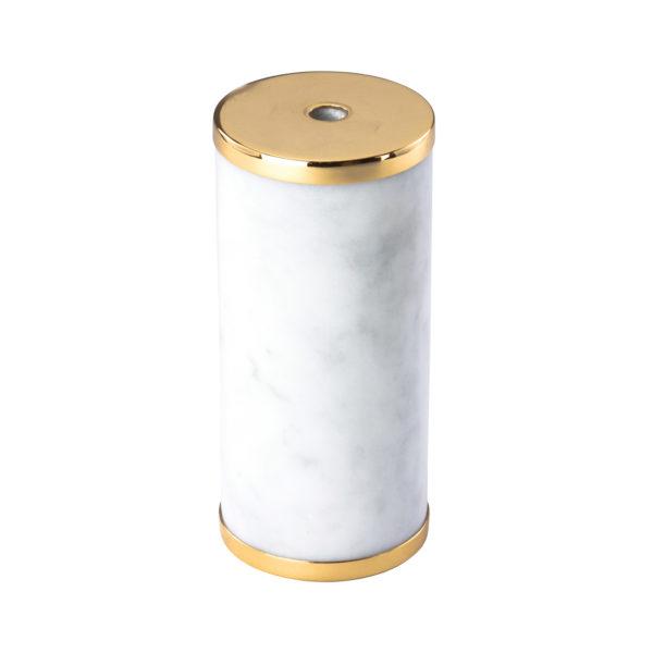 Luxusná mramorová objímka E27 s bakelitovou vložkou biela:zlatá farba