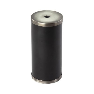 Luxusná mramorová objímka E27 s bakelitovou vložkou čierna/titánová farba