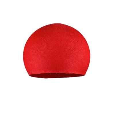 Ručne vyrobené tienidlo z polyesterového vlákna, 25cm, červená farba