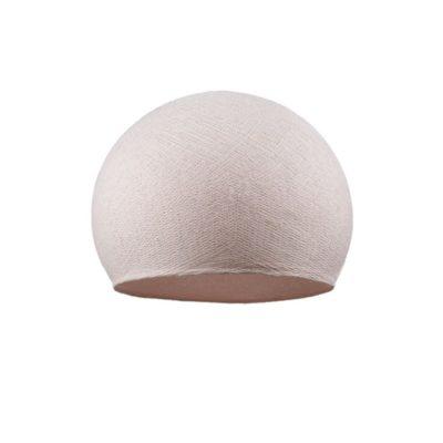 Ručne vyrobené tienidlo z polyesterového vlákna, 25cm, svetlo ružová farba