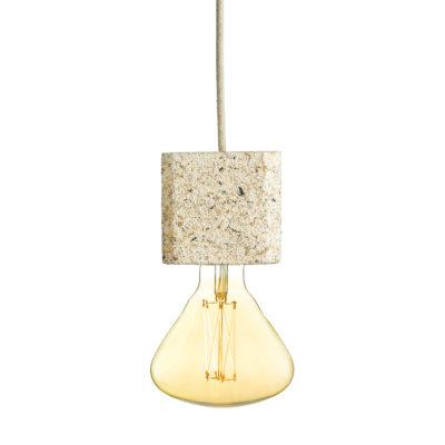 Závesné svietidlo SIMPLE CREAM SQUARED vyrobené z recyklovaného papiera