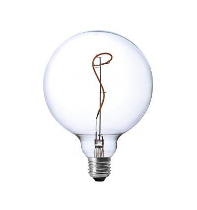 LED Žiarovka ART SPHERE s čírym sklom, E27, 130lm, 4W, Teplá biela, stmievateľná-