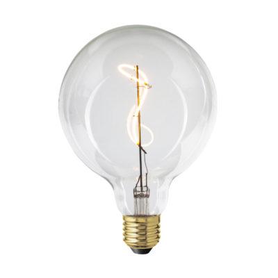 LED Žiarovka ART SPHERE s čírym sklom, E27, 130lm, 4W, Teplá biela, stmievateľná