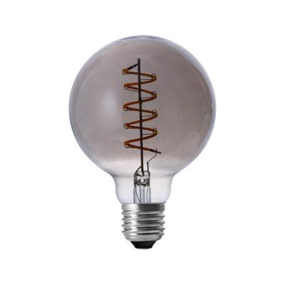 LED Žiarovka shines s dymovým sklom, E27, 130lm, 4W, Teplá biela, stmievateľná | Amarcords