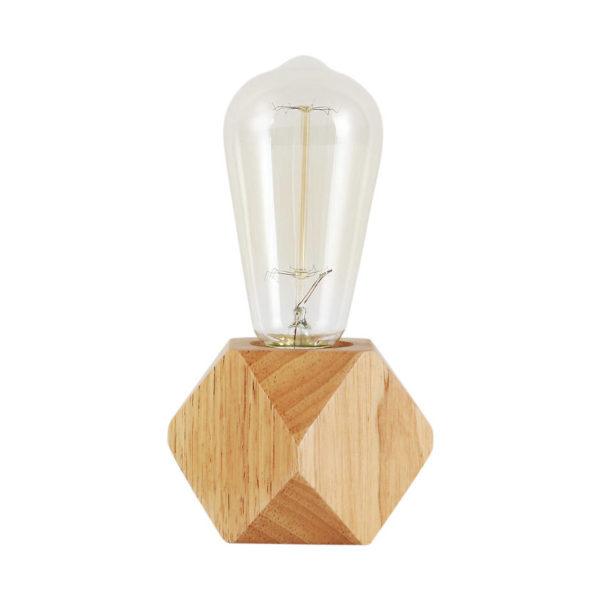 Moderná stolová lampa z prírodného dreva s vypínačom