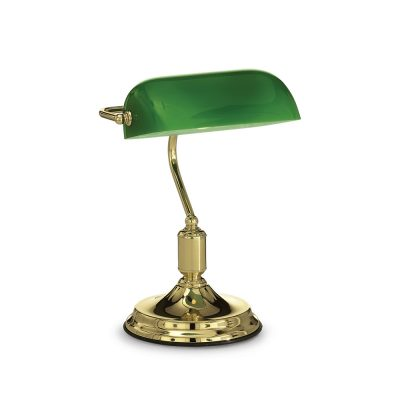 Historické stolové svietidlo LAWYER v mosádznej farbe