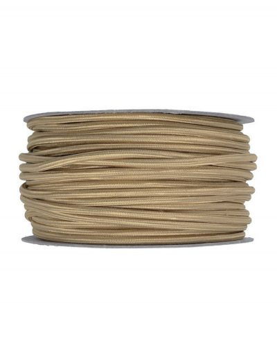 Kábel dvojžilový v podobe retro lana, juta, 2 x 0.75mm, 1 meter.