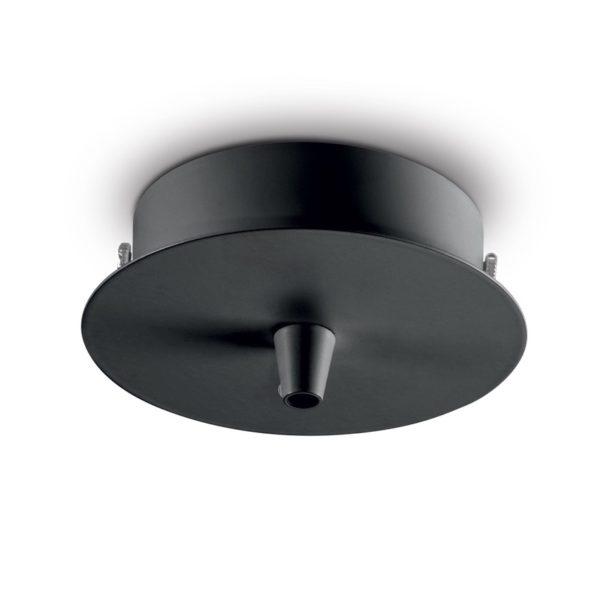 Kovová stropná rozeta pre 1 svietidlo, okrúhla v čiernej farbe   Ideal Lux