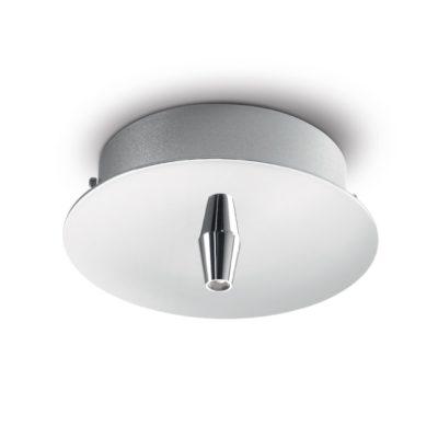 Kovová stropná rozeta pre 1 svietidlo, okrúhla v chrómovej farbe | Ideal Lux