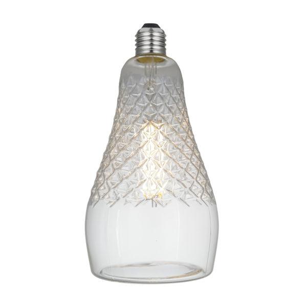 LED Filament kryštálová žiarovka IRIS, E27, 6W, 600lm