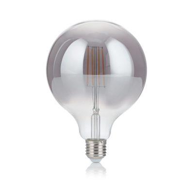 Žiarovka Filament GLOBO s dymovým sklom, E27, 4W, 200lm, Teplá biela | Ideal Lux