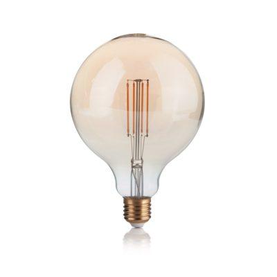 Žiarovka Filament GLOBO so zlatým sklom, E27, 4W, 300lm, Stmievateľná, Teplá biela | Ideal Lux