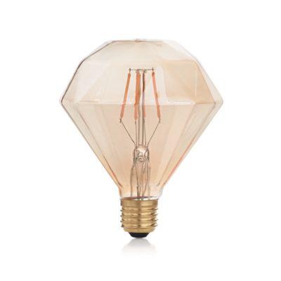 Žiarovka Filament VINTAGE DIAMOND, E27, 4W, 380lm, Teplá biela
