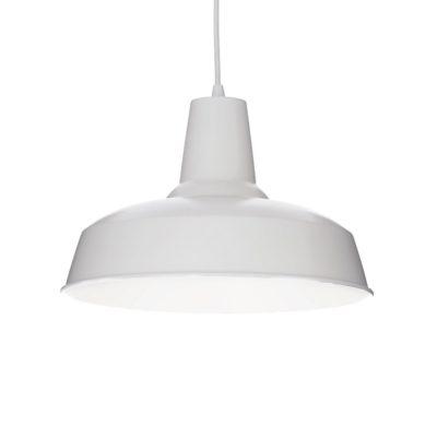 Závesné historické svietidlo MOBY SP1 v bielej farbe