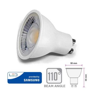 8W LED bodová žiarovka GU10, SMD Samsung Chip, 720lm