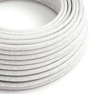 Kábel s trblietavým povrchom, Umelý hodváb, Biela farba