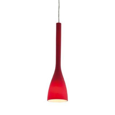 Moderné závesné svietidlo FLUT SP1 SMALL v červenej farbe | Ideal Lux