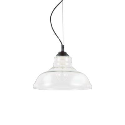 Sklenené svietidlo BISTRO' SP1 PLATE s čírym tienidlom | Ideal Lux