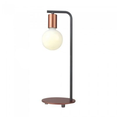 Dizajnová stolová lampa so spínačom v medenej farbe