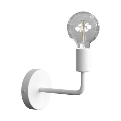 Jednoduché nástenné svietidlo v bielej farbe