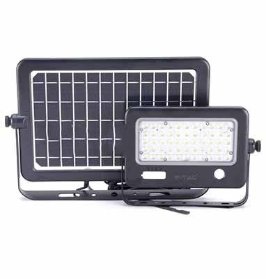 LED solárne svietidlo s 10W odnímateľným solárnym panelom, Denná biela, 1100lm