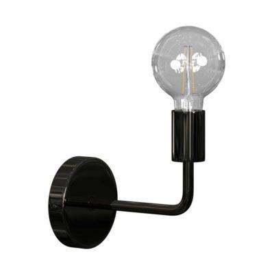 Luxusné kovové nástenné svietidlo v čiernej perlovej farbe