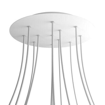 XXL Okrúhla kovová stropná rozeta s priemerom 40 cm a 12 otvormi
