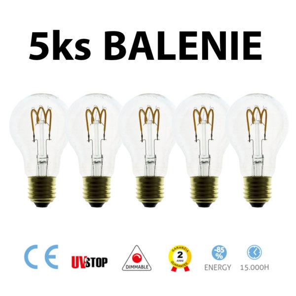 LED žiarovka - GOCCIA - 3W, 150lm E27, Stmievateľná, 2200K – BALENIE 5 KUSOV