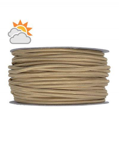 Kábel do exteriéru trojžilový v podobe retro lana, juta, 3 x 0.75mm, 1 meter