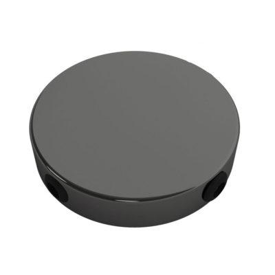 Stropný držiak so 4 bočnými otvormi, 12cm, kov, perlová čierna farba