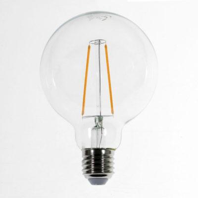 Priehľadná LED žiarovka - G95, 4W, E27, 400lm, Teplá biela | Daylight Italia