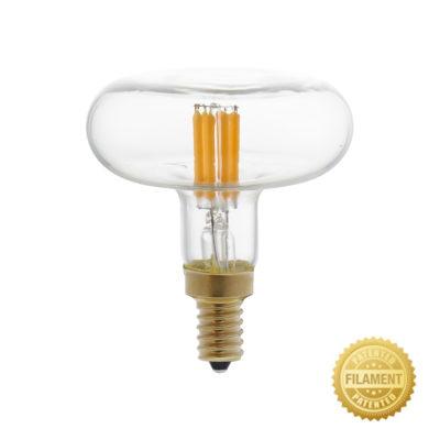 Priehľadná LED žiarovka - DASH D66, 4W, E14, 300lm, 2700K, Teplá biela, Stmievateľná | Daylight Italia