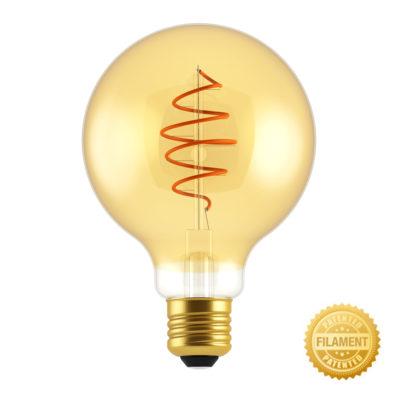 Zlatá LED žiarovka - CROISSANT GLOBUS - 5W, E27, Stmievateľná, 2000K, 250lm