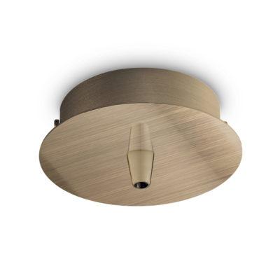 Kovová stropná rozeta pre 1 svietidlo, okrúhla v mosádznej farbe | Ideal Lux