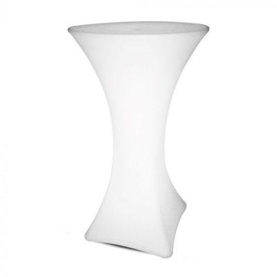 Barový stôl do exteriéru, RGB LED, IP54, 60 x 60 x 110cm, nabíjatelný s diaľkovým ovládaním