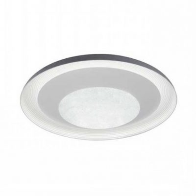 LED stropné kruhové svietidlo 48W, Stmievateľné, 3 farby, diaľkové ovládanie, 49cm, 2400lm, Crystal