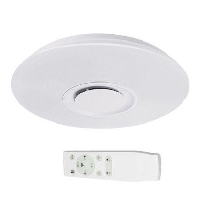 LED stropné svietidlo so zabudovaným reproduktorom 36W, Diaľkové ovládanie + Aplikácia, 50cm, 3400lm, Stary.