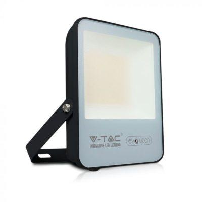 Reflektor LED 50W, Studená biela, 8000lm, IP65, hliník-čierna