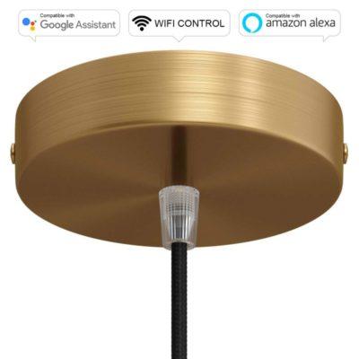 SMART WIFI Stropná rozeta kompatibilná s hlasovými asistentmi Google Home a Amazon Alexa, brúsená bronzová