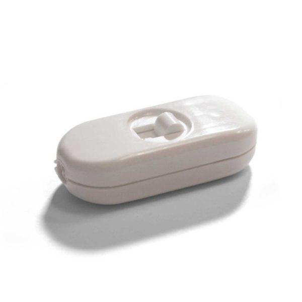 Unipolárny posuvný prepínač biely
