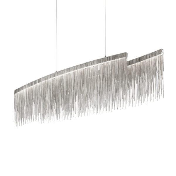 Chrómový luxusný luster s dekoratívnymi prvkami VERSUS SP OVAL | Ideal Lux