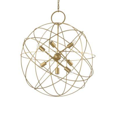 Kovový závesný luster v zlatej farbe KONSE SP7 | Ideal Lux