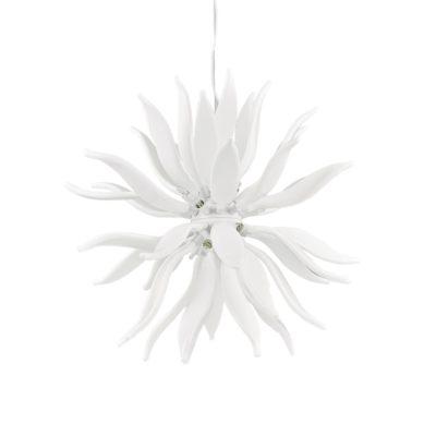 Luxusný sklenený luster LEAVES SP12 v bielej farbe | Ideal Lux