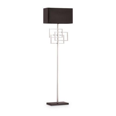 Moderná stojacia lampa s tienidlom, chróm LUXURY PT1 | Ideal Lux