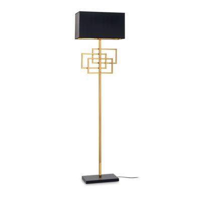 Moderná stojacia lampa s tienidlom, mosadz LUXURY PT1 | Ideal Lux