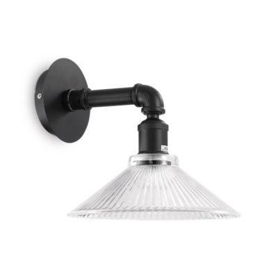 Nástenná lampa s dekoračným skleneným tienidlom ASTRID AP1 NERO | Ideal Lux