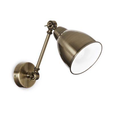 Nástenná retro lampa v staromosádznej farbe NEWTON AP1 | Ideal Lux